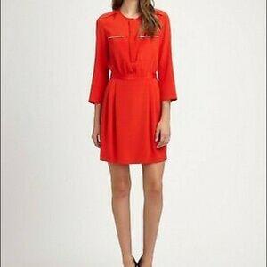 Theory Brunella Silk Blouson Dress